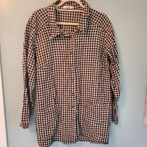 Cut Loose Black and White Plaid Button Up …